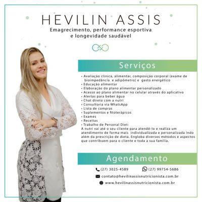 Hevilin Assis Nutricionista Clínica e Metabólica, Nutricionista Esportiva e Nutricionista Funcional